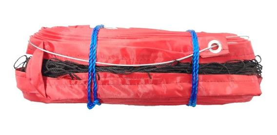 Red Voleibol Embreada Profesional Cable Acero Refuerzo 4 Lad