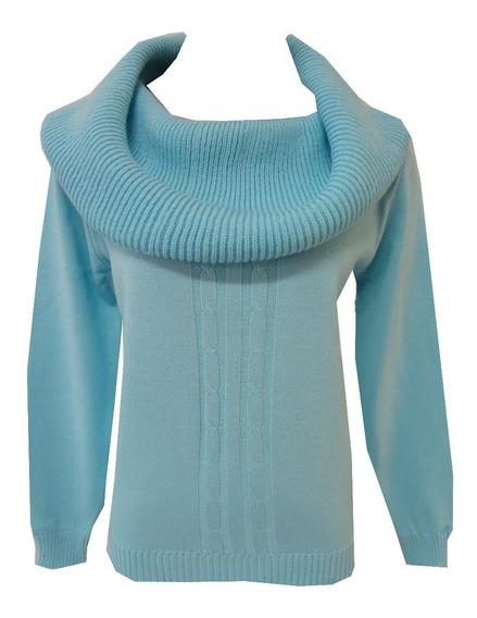 Blusa Suéter Trico Lã Feminina Tranças Frio Gola Maxi Outlet