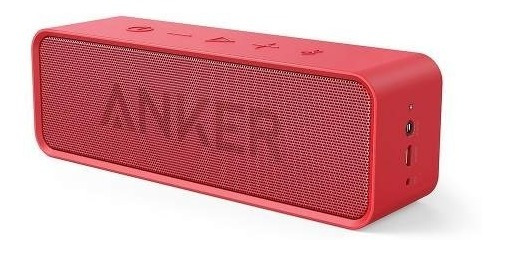 Parlante Speaker Bluetooth Soundcore Rojo Anker