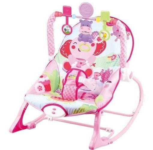 Cadeira Bebê Descanso Vibratória Balanço Musical Elefante