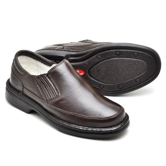 Sapato Fácil Encaixe Anti-stress Social Conforto Masculino