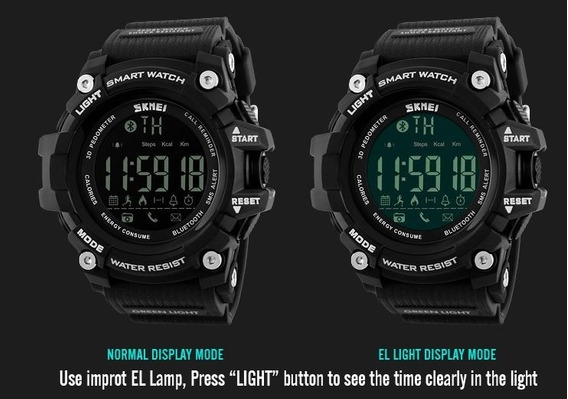 Relógio Digital Inteligente Bluetooth Smart Watch Skmei 1227