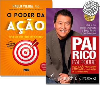 Livro Pai Rico Pai Pobre + Livro O Poder Da Ação - Promoção