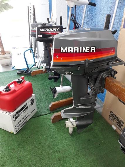 Motor De Popa Mariner 25 Hp Otimo Estado