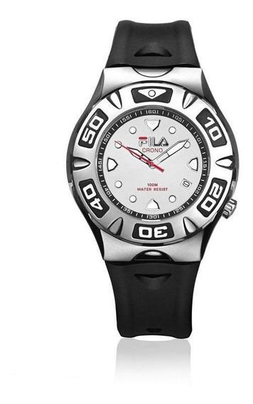 Relógio De Pulso Fila Masculino Pulseira Silicone 316-12
