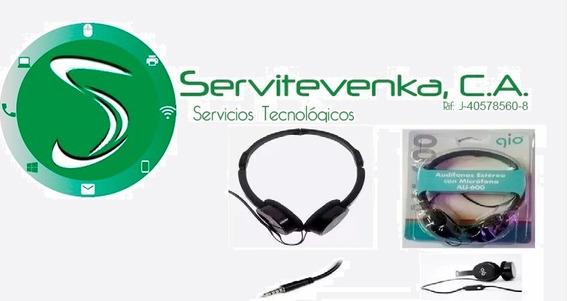 Auriculares Con Microfono Gio Modelo Au-600 Audifonos 664
