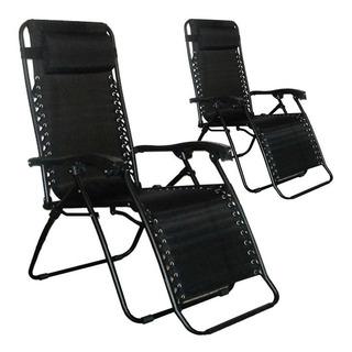 Kit 02 Cadeira Sevilha Reclinável 21 Posições Preta Mor