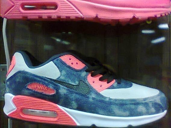 Tenis Nike Air Max 90 Azul E Laranja Nº41 Original!!!