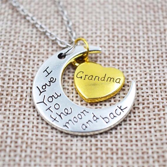 Collar Dije Regalo Familiar Grandma Abuela 26 Julio Cumple