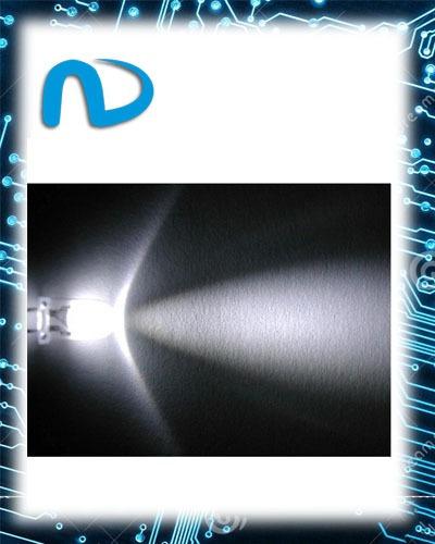 100x Led Branco De 3mm Alto Brilho-promoção