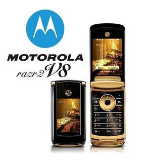 Celular Motorola Razr2 V8 Luxury Oro Amarillo Libre Nuevo 0k