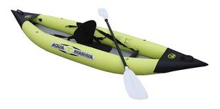 Caiaque Inflável K1 Aqua Marina Com Assento Remo E Inflador