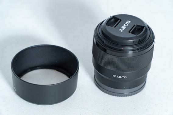 Lente Sony 50mm F1.8 Fe Full Frame E Mount Emount Sel50f18f