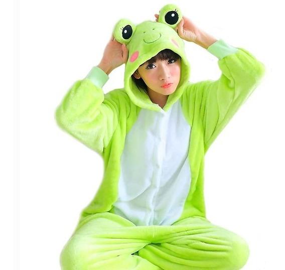 Pijama Mameluco Polar Rana Unisex Disfraz