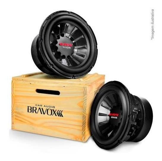 Subwoofer Bravox Edx12d 1.5+1.5 Ohms 1500w Rms