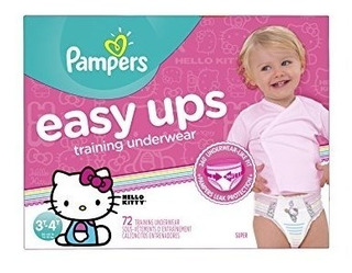 Pampers Easy Ups Entrenamiento Chicas 3t-4t (tamaño 5), 72 C