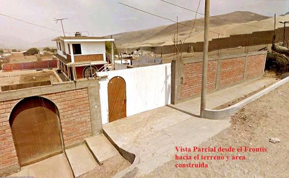 Alquilo Terreno De 1250 M2 Con Casa De 2 Pisos Construida