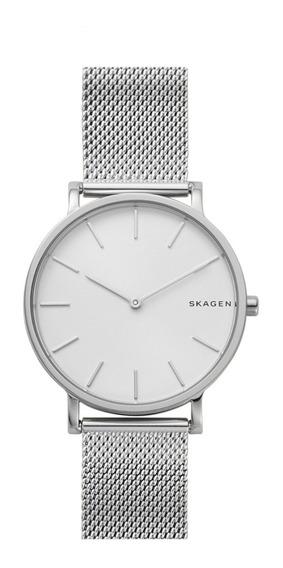 Reloj Caballero Skagen Hagen Skw6442 Color Plata De Acero