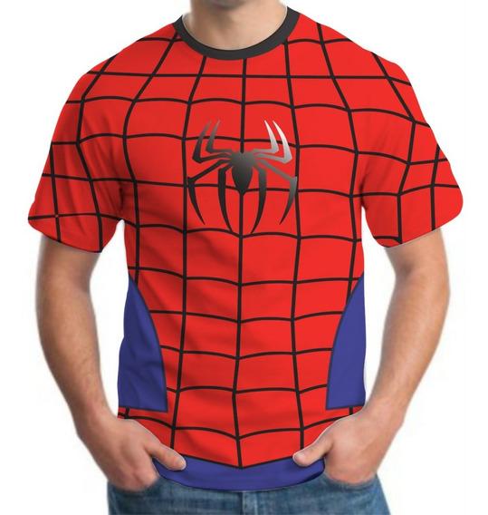 Camiseta Camisa Masculina Roupas Herois Homem Aranha 3d Dry