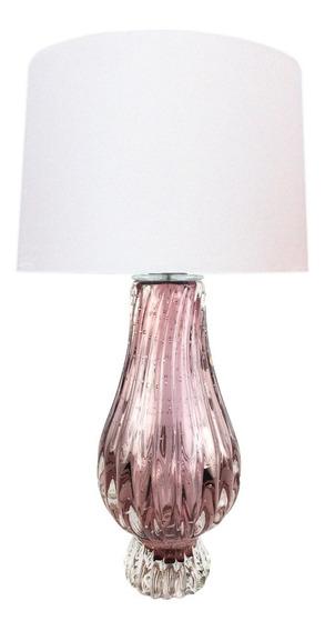 Abajur De Cristal De Murano Villette - New Rubi
