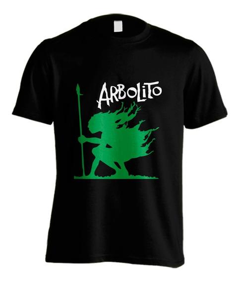 Arbolito #03 Remera Artesanal Vinilo Planta Nuclear