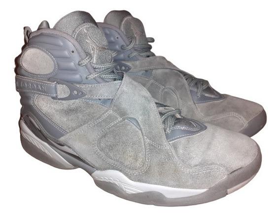 Tenis Jordan Retro 8 Cool Grey 9mx Nike Basquet Gym Hombre S