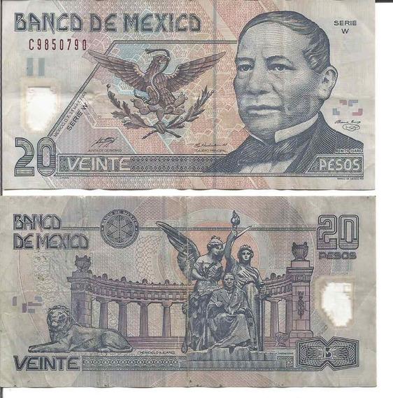 Billete De 20 Pesos Juarez De Polimero