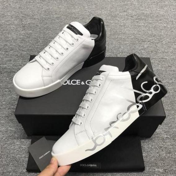 Tênis Dolce & Gabbana Metade Branco Signature