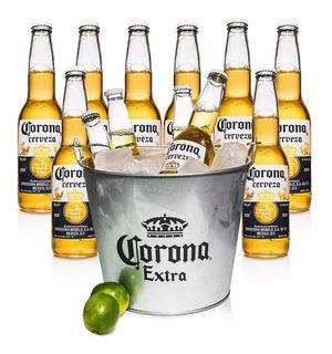 Cerveza Corona 12u 355ml + Frapera Original. Avellaneda.