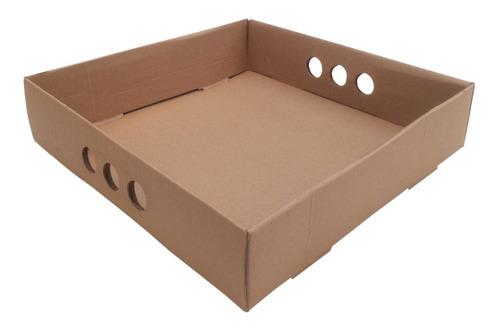 Bandeja Para Desayuno O Picadas, Cartón Rígido 35x35x07 X10u