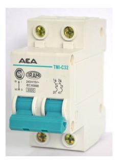 Llave Térmica Termomagnética Bipolar 2x32a Aea Interruptor
