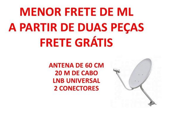 Antena De 60 Cm Com Lnb Duplo