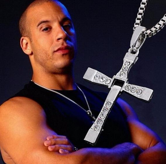 Colar Cordão Cruz Em Aço Velozes E Furiosos Toretto Bc