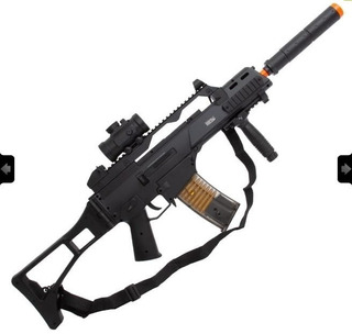 Rifle Aeg Airsoft G36 H&k Umarex 6mm + Red Dot + Bandoleira