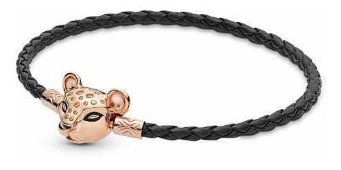 Bracelete Rei Leão Nala Rosé Prata 925 Estilo Pandora