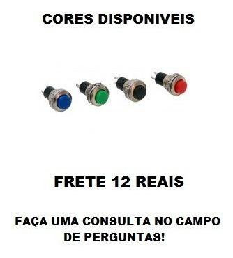 10 X Push Button Ds-316 N/a ( Chave ) Frete 12,00
