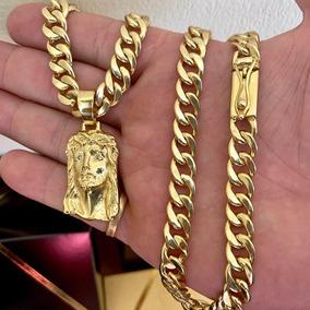 Cordão Pitbul 10mm Banhado Ouro 18k Luxo Ostentação