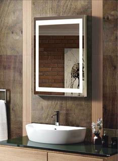 Espejo Par Baño Electrónico Con Luz Led Integrada De 45x65cm