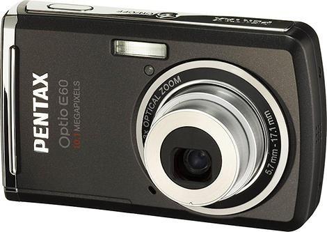 Camera Digital Pentax Optio E60 10.1 Megapixels, Preta Penta