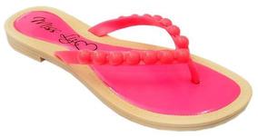 Sandálias Kit 10 Pares Miss Liz Neon Bolas Gota Atacado J924