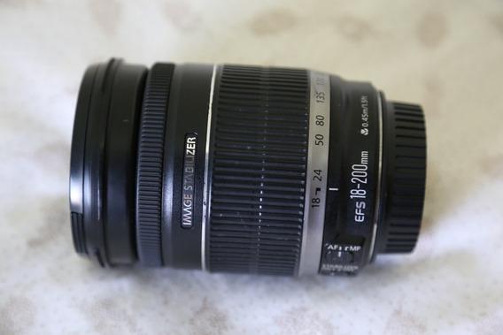 Lente Canon 18-200 Mm F/3.5-5.6 Is Seminova