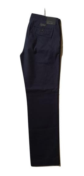 Pantalón Bna Republic Emerson Straight Chino Azul Talla 32