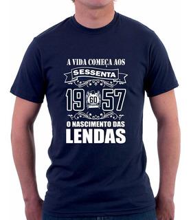 Camiseta A Vida Começa Aos Nascimento Das Lendas 10 A 90anos