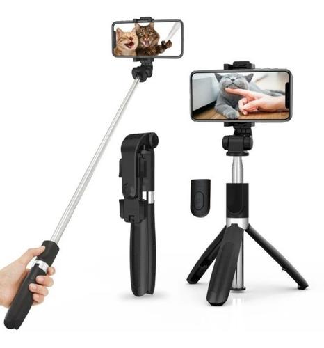 Bastão Pau Selfie Tripé Controle Bluetooth Celular 1m