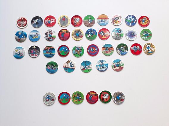 35 Tazos Coca Cola 1996 Coleccion Completa + 6 Repetidos