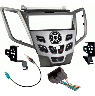 Kit Base Estereo 1 Din P/ Ford Fiesta Año 11-14 Gris Y Negro
