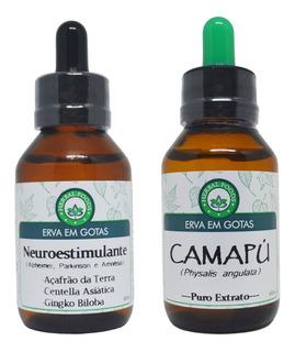 Kit 1 Extrato De Camapú + 1 Composto Neuroestimulante