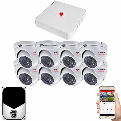Kit Cctv Circuito Cerrado 8 Camaras Vigilancia Epcom Eh 2tb