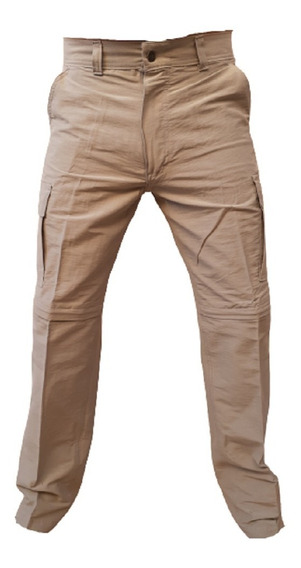 Pantalon Cargo Desmontable Bolsillo Bermuda Hombre Verano