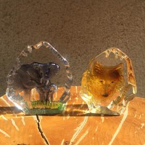 Antiga Escultura Peso De Papel Em Cristal Lapidado